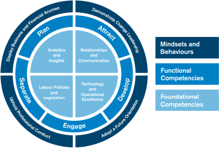 IHRP body of competencies framework breakdown diagram