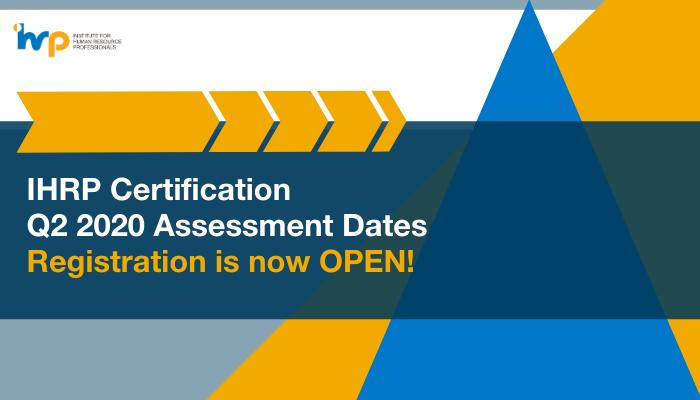 2020 IHRP Certification Registration
